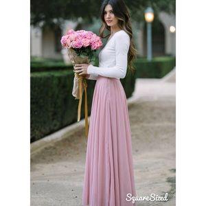 Morning Lavender Amelia Bridesmaid Maxi Skirt